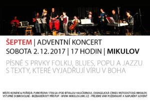Adventní koncert ŠEPTEM - Mikulov 2017-12-02